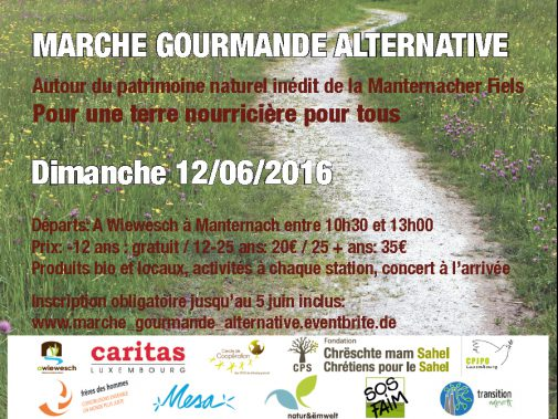 Marche gourmande alternative. @ centre d'accueil A Wiewesch | Manternach | Grevenmacher | Luxembourg