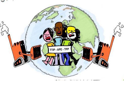 Accords de libre échange: les multinationales contre les peuples! @ Bâtiment de la mutualité chrétienne | Arlon | Wallonie | Belgique