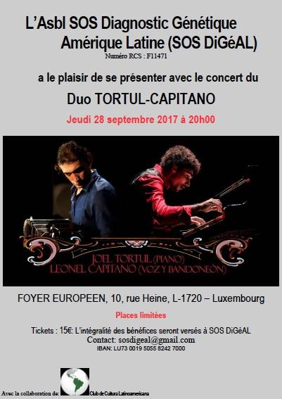 Concert du Duo Tortul - Capitano @ FOYER EUROPEEN,  | Luxembourg | District de Luxembourg | Luxembourg