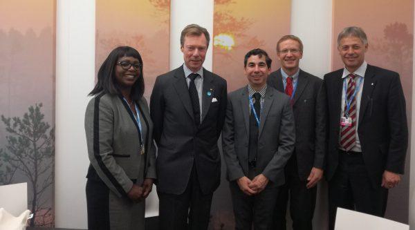 Le Grand-Duc Henri de Luxembourg déclare son soutien vis à vis de la politique climatique du mouvement Fairtrade.