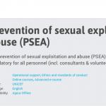 Guide formation en ligne - Prévention des cas d'exploitation ou d'abus sexuels